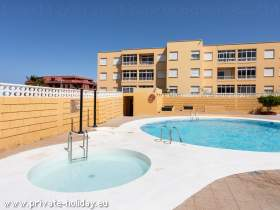 Apt. in El Medano, pool & balcony